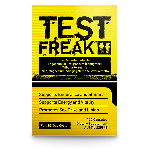 PharmaFreak Test Freak - Testosterone Booster 120 Capsules - Super Nutrition