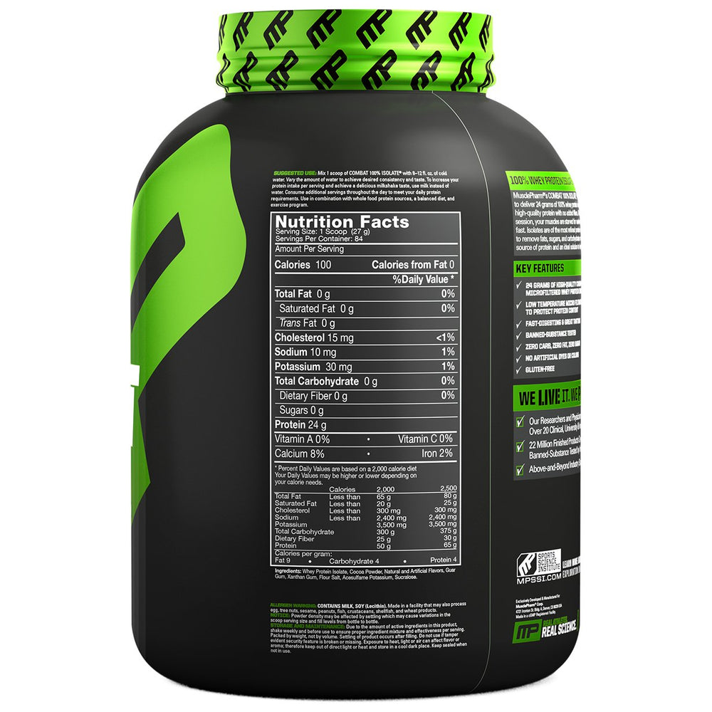MusclePharm Combat 100% Isolate - Super Nutrition