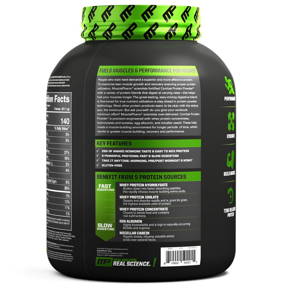 MusclePharm Combat Protein Powder - Super Nutrition