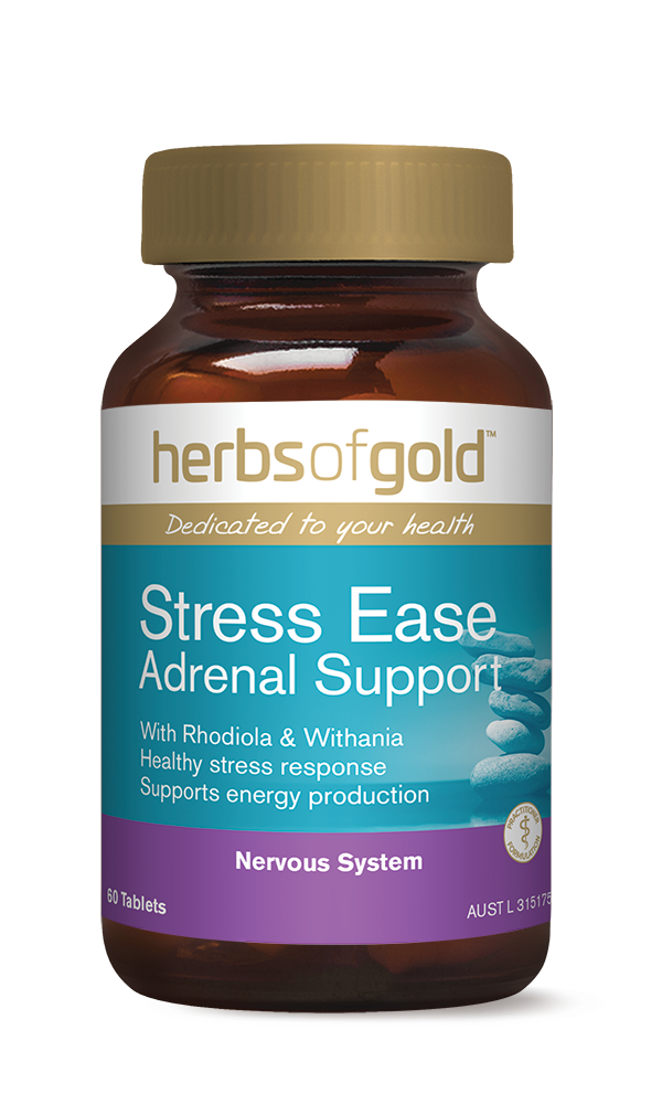 Herbs of Gold Stress Ease Adrenal Support - Super Nutrition