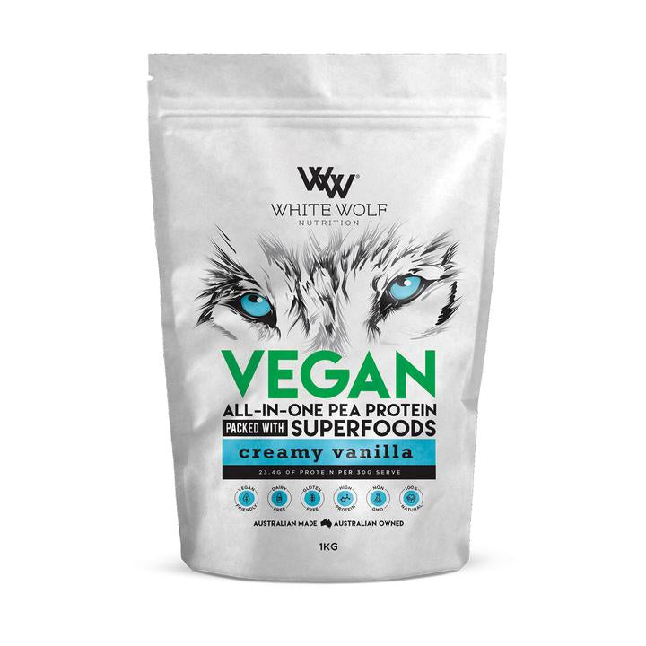 White Wolf Nutrition Vegan All-In-One Pea Protein - Super Nutrition