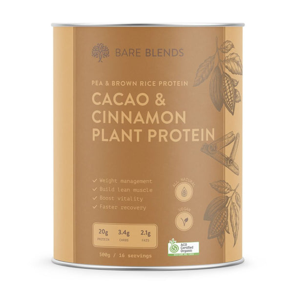 Bare Blends Cacao & Cinnamon Plant Protein - Super Nutrition