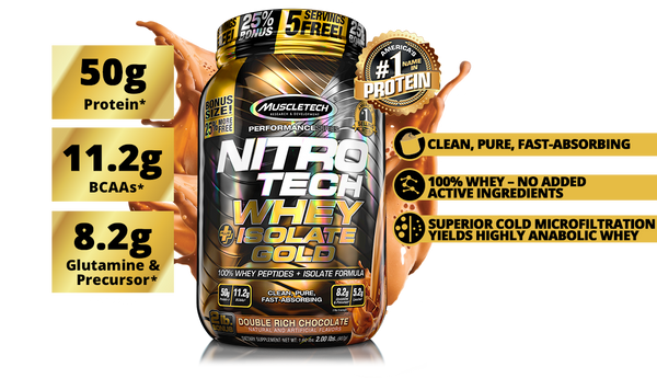 Muscle Tech Nitro Tech Whey + Isolate Gold