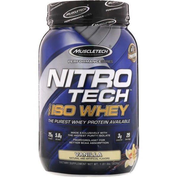 MuscleTech Nitro Tech 100% ISO Whey - Super Nutrition
