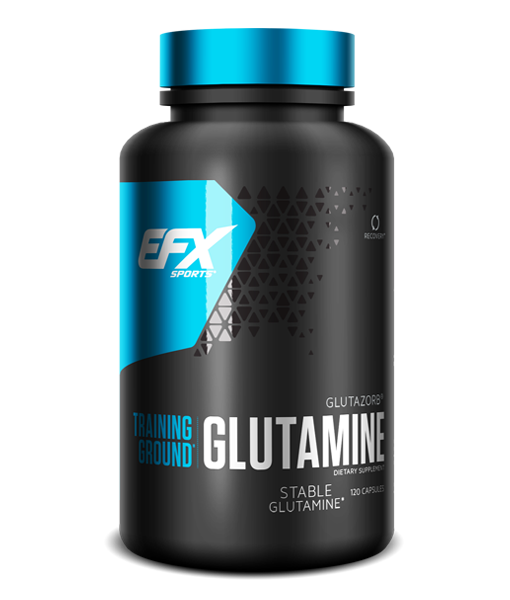 EFX Sports Training Ground Glutamine (60 serve) 120 Capsules - Super Nutrition