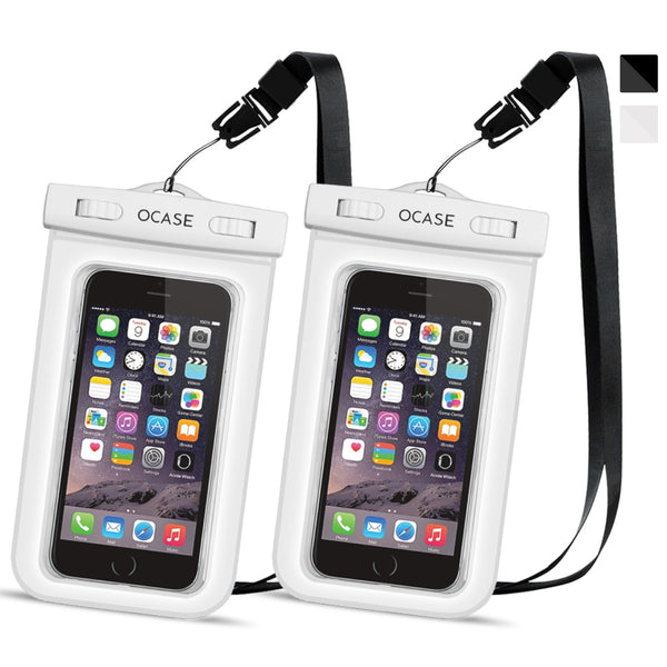 Universal Waterproof Case Two Packs-White