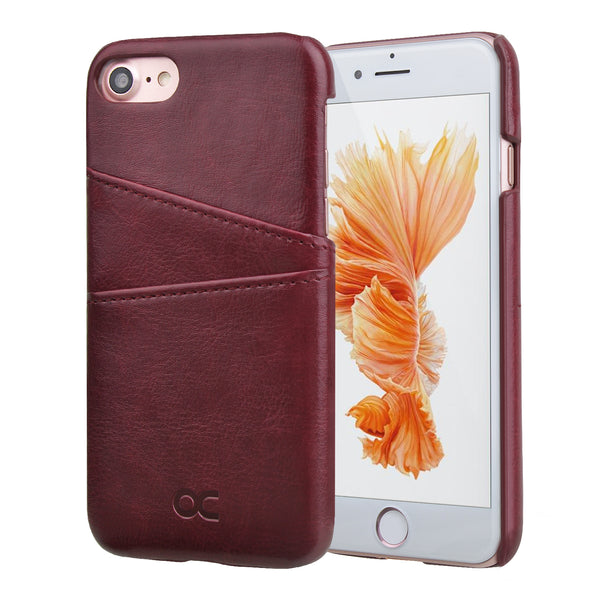 Ocase iPhone 8 Wallet Case, iPhone 7 Case Leather Phone Case [Card Slot] [Camera Protection ] [Precise Cut-Out ]– Case for Apple iPhone 8 and iPhone 7 - Burgundy