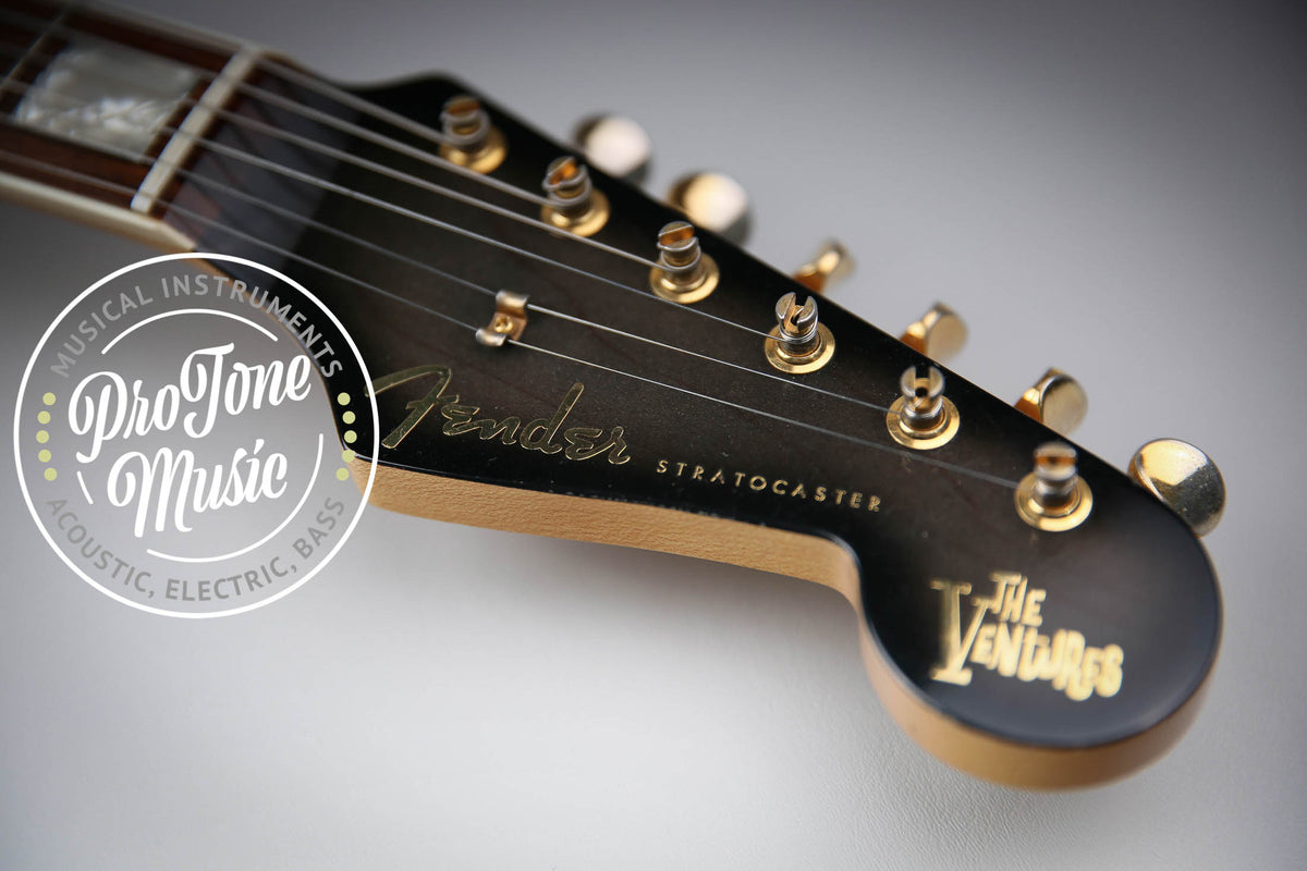 Fender Stratocaster The Ventures LTD 1996 50th Anniversary Black Transparent.
