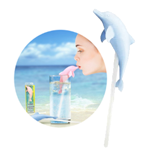 Dolphin Kiss Drinking Straw