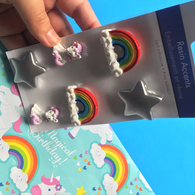 Unicorns & Rainbows 3D Resin Stickers -6 Pcs