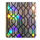 Holo & Black Glitter Art Deco Pattern Notebook