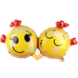 Kissing Smiley Love XL Balloon