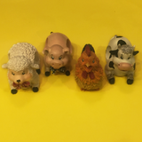 Barnyard Animals Napkin Rings Set of 4