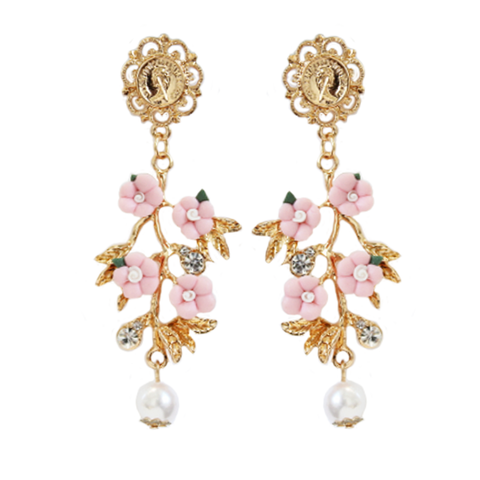 Lux Baroque Floral Earrings