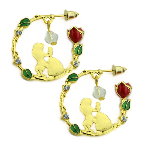 Beauty & The Beast Hoop Earrings