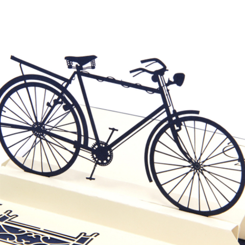Bicycle 3D Pop Up Card