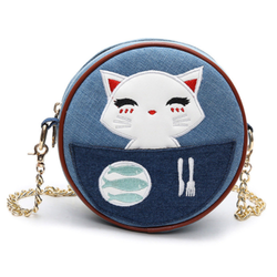 Kitten Circular Crossbody Bag