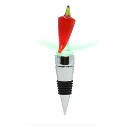 glass LED chili wine stopper
