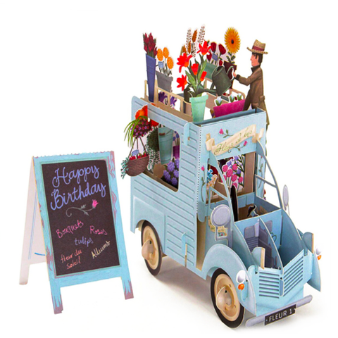 Flower Truck 3D Pop Up Card
