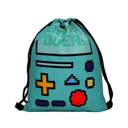Retro Gamer Drawstring Backpack