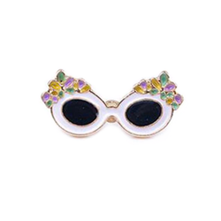 Vintage Floral Sunglasses Pin
