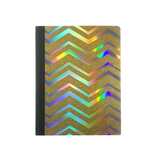 Holo & Gold Glitter Zigzag Composition Notebook