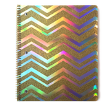 Holo & Gold Glitter Zigzag Pattern Notebook