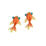 Goldfish Stud Earrings