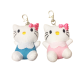 Hello Kitty & Mimi Plush Keychain
