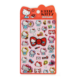 Glitter Puffy Hello Kitty Stickers