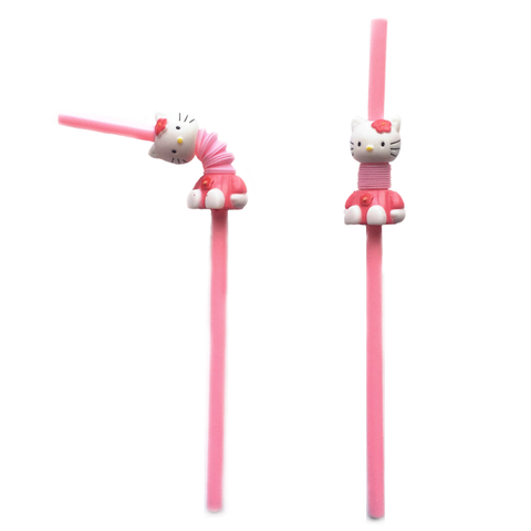 Hello Kitty Flexible Straws - Set of 2