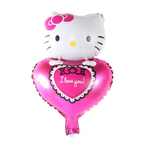 Kitty's Pink Heart Mylar Balloon