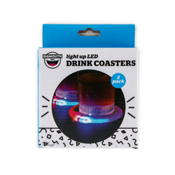 Light up LED Drink Coasters - Set of 2