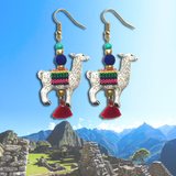 Handmade Llama Earrings