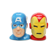 marvel heroes captain america iron man salt pepper shakers