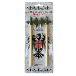 Medieval Axe Eraser Pencil Set