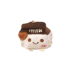 Kawaii Milk Box Plush Keychain