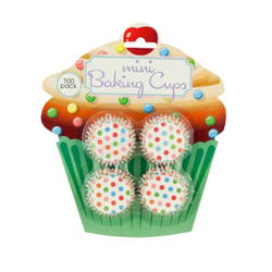 Mini Baking Cups - 100 Pack