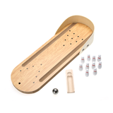 Mini Wooden Bowling Desktop Game