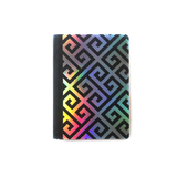 Holo & Glitter Greek Meander Mini Composition Notebook