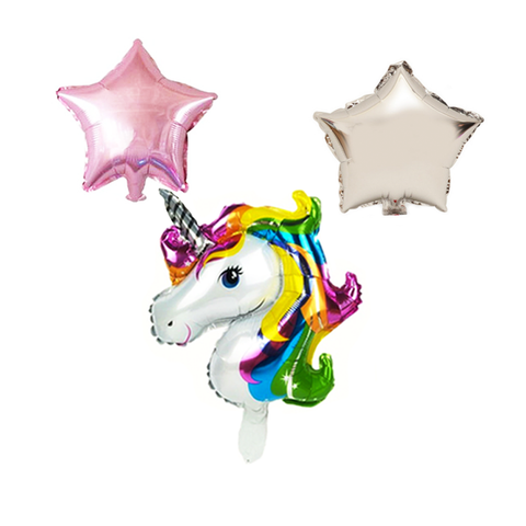 unicorn mylar balloon set