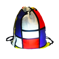 Mondrian Art Drawstring Backpack
