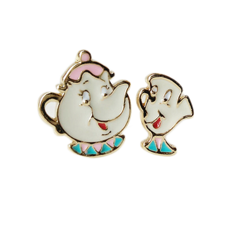 Mrs Pot & Chip Stud Earrings
