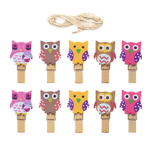 Owl Wood Clips