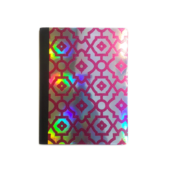 Holo & Pink Glitter Arabesque Composition Notebook