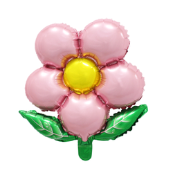 Pink Flower Mylar Balloon