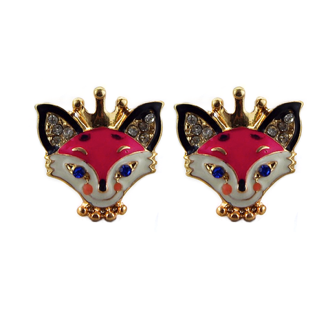 Princess Foxy Stud Earrings
