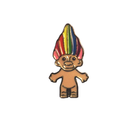 Rainbow Hair Troll Pin