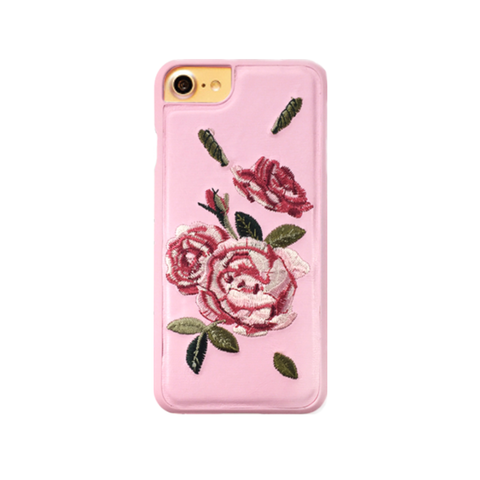 Floral Embroidery Case for iPhone 7