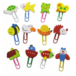 Wood Cartoon Paperclips